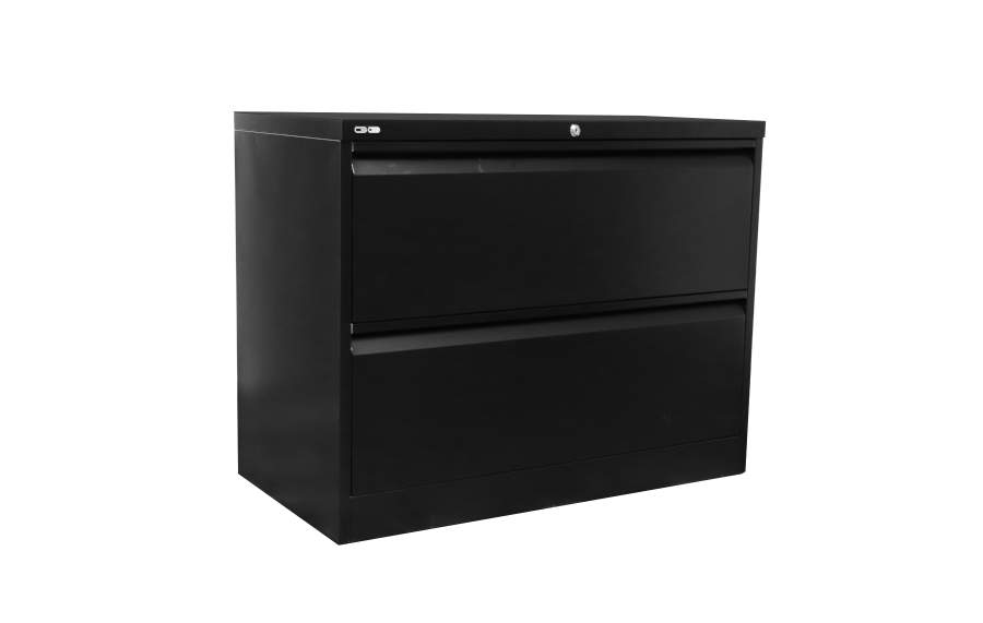 Go 2 Drawer Lateral File Black