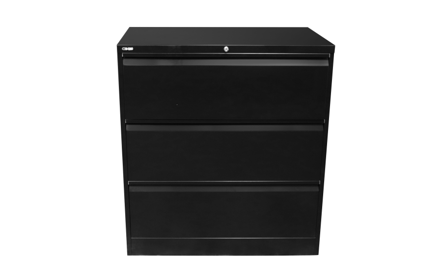 Go 3 Draw Lateral File Black
