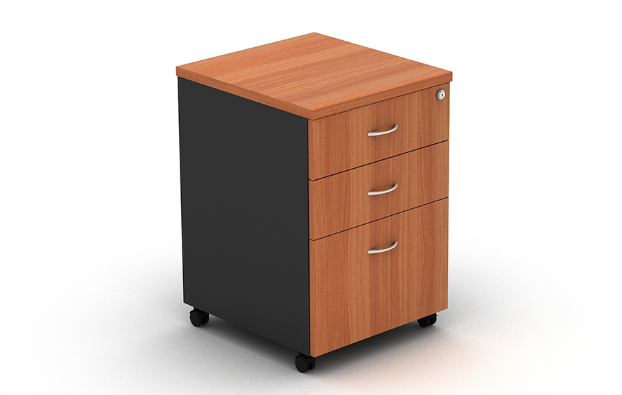 Grand Mobile Pedestal 2 Drawers & 1 File