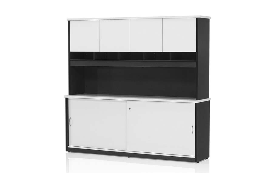 Hunter Hutch Unit w Doors 1800 (Excl Credenza)