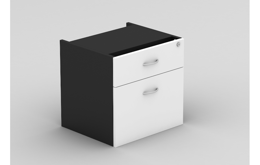 Grand 1 Drawer & 1 File Fixed Pedestal