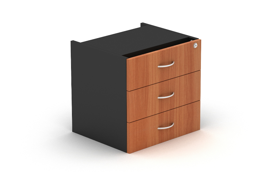 Grand 3 Drawer Fixed Pedestal