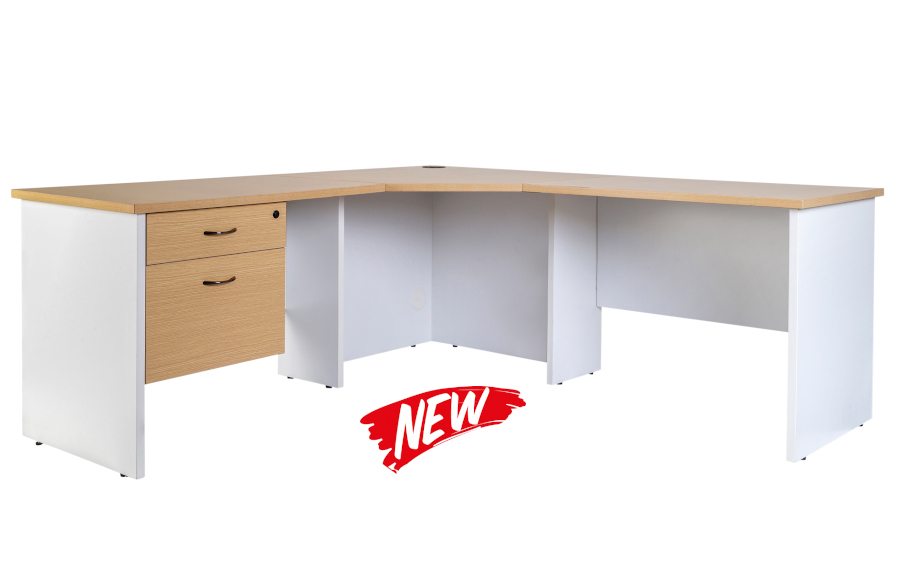 Hunter Oak Corner Workstation 186