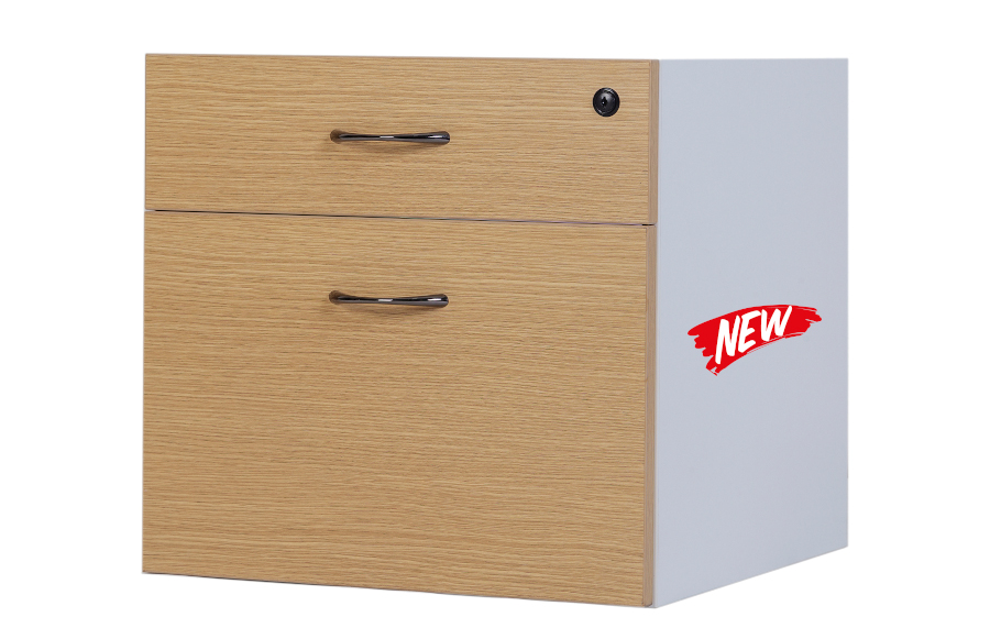 Hunter Oak 1 Draw & 1 File Box