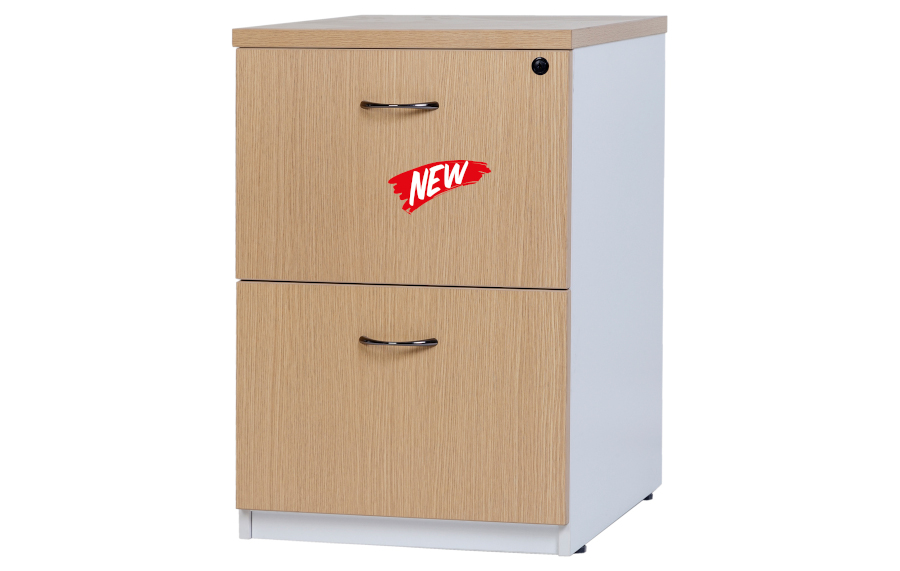 Hunter Oak 2 Drawer Filing Cabinet