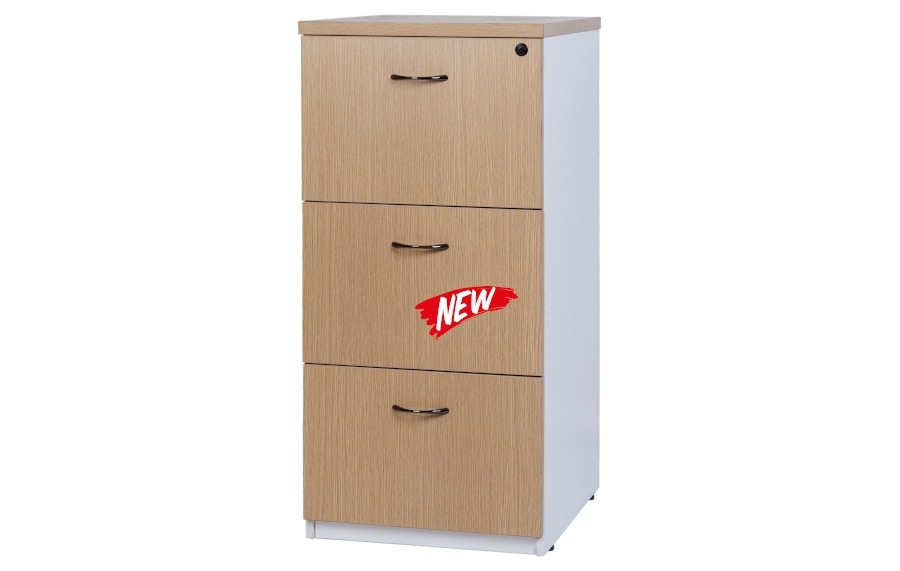 Hunter Oak 3 Drawer Filing Cabinet