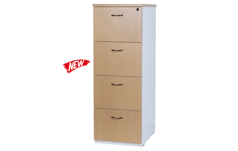 Hunter Oak 4 Drawer Filing Cabinet