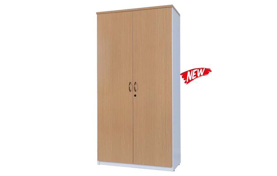 Hunter oak Full Door Stationery Cupboard