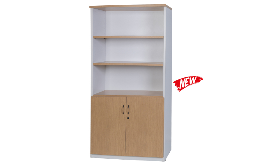Hunter Oak Half Door Stationery Cupboard