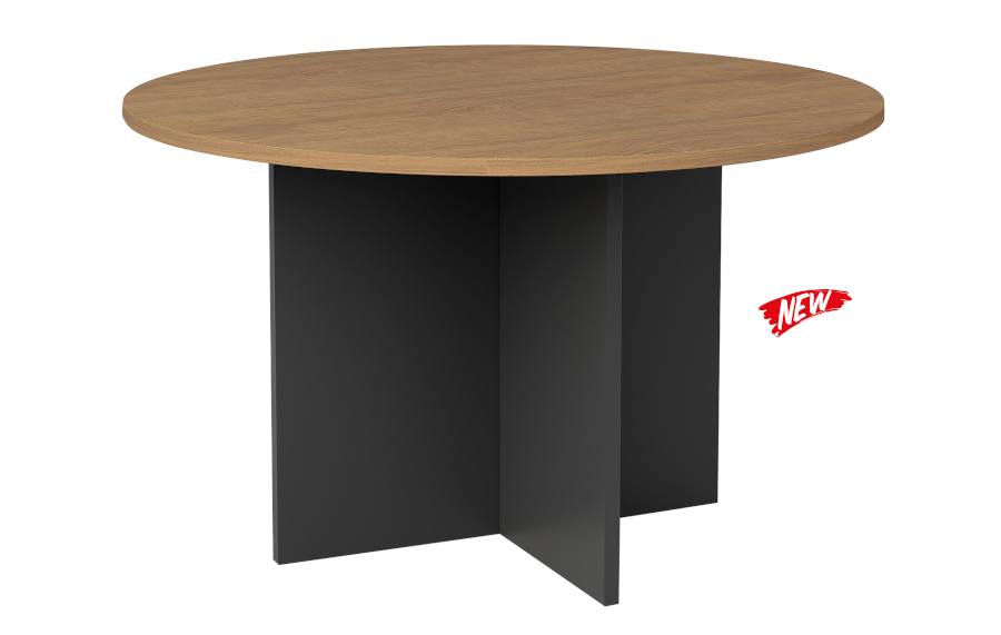 Regal Walnut Round Meeting Table 900