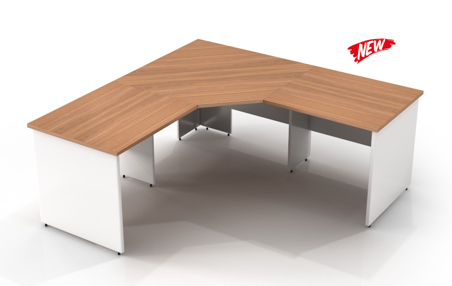 Virgina Walnut 3 Piece Workstation 1800
