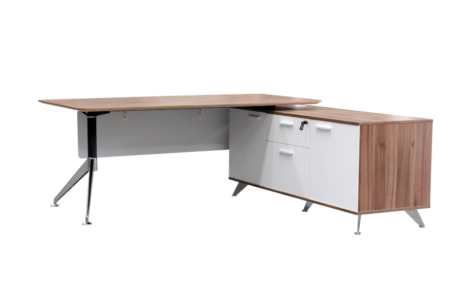 Potenza Casnan Desk with Return 2150
